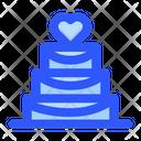 Wedding Cake Love Heart Icon