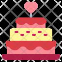 Wedding Cake Birthday Icon