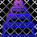 Wedding Cake Cake Dessert Icon