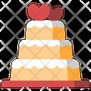 Wedding Cake Love Icon