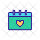 Wedding Calendar Heart Icon