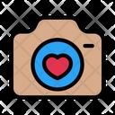 Camera Love Heart Icon