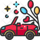 Automobile Balloon Car Icon