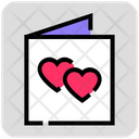 Valentine Day Invitation Card Wedding Icon