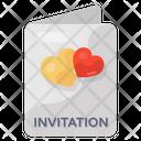Wedding Card Wedding Invitation Marriage Card Icon