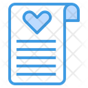Wedding Certificate Icon