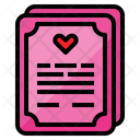 Wedding Certificate Marriage Certificate Love Letter Icon