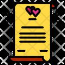 Wedding Contract Love Heart Icon