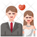 Wedding Couple Newlyweds Bride Icon