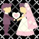 Couple Groom Bride Icon