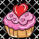 Wedding Cupcake Dessert Muffin Icon
