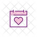 Wedding Date Calendar Wedding Day Icon