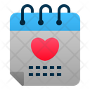 Wedding Date Calendar Love Icon