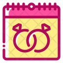 Wedding Date Calendar Marriage Icon