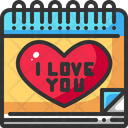 Calendar Date Heart Icon