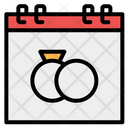 Wedding Day Time And Date Love And Romance Icon