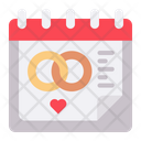 Wedding Day Date Schedule Icon