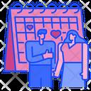 Wedding Day Calendar Countdown Icon