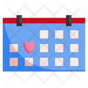 Wedding Day Calender Time And Date Icon