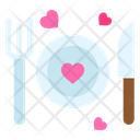 Dinner Plate Heart Icon