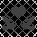 Dove Wedding Heart Icon