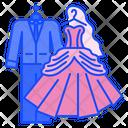 Wedding Dress Groom Bride Icon