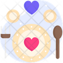 Wedding Food Marriage Food Plate Icon
