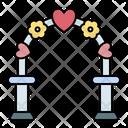 Gate Sign Wedding Icon