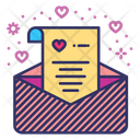 Wedding Invention Love Letter Love Message Icon