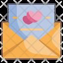 Invitation Mail Heart Icon