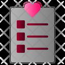 List Love Note Icon