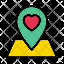 Love Location Wedding Icon