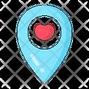 Location Map Celebration Icon