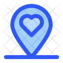 Wedding Location Love Location Pin Icon