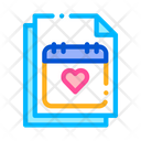 Wedding Day Calendar Icon