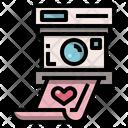 Polaroid Wedding Love Icon