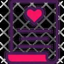 Wedding Planning Planning Heart Icon