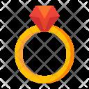 Wedding Ring Diamond Icon