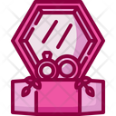 Wedding Rings Valentines Day Engagement Icon
