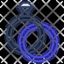 Diamond Rings Wedding Rings Ringlets Icon