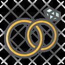 Wedding Rings Jewel Icon