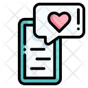 Talk Message Heart Icon