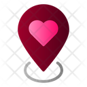 Wedding Location Love Icon