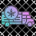 Marijuana Shipping Delivery Icon