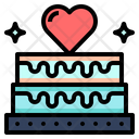 Cake Candy Heart Icon