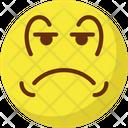 Weeping Sad Baffled Emoticon Icon