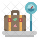 Weighting Luggage Measuring Icon