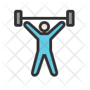 Weight Lifting Person Icon
