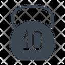 Kg Weight Gym Icon
