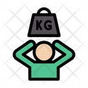 Kg Weight Lifting Icon